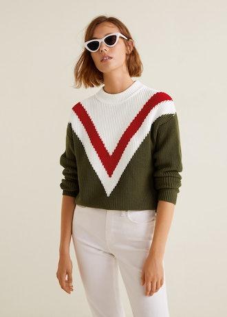 Tricolor Cotton Sweater
