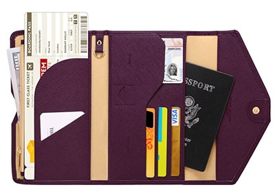 Multi-Purpose Travel Passport Wallet