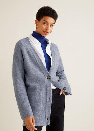 Long Wool-Blend Cardigan