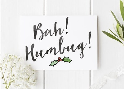 "Charles Dickens ""Bah! Humbug!"" Card"