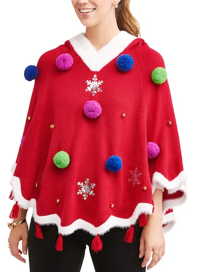 Women's Ugly Christmas Tree Poncho
