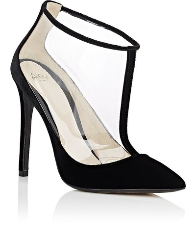 Izabel Velvet & PVC Ankle Booties