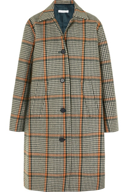 Plaid Wool Coat
