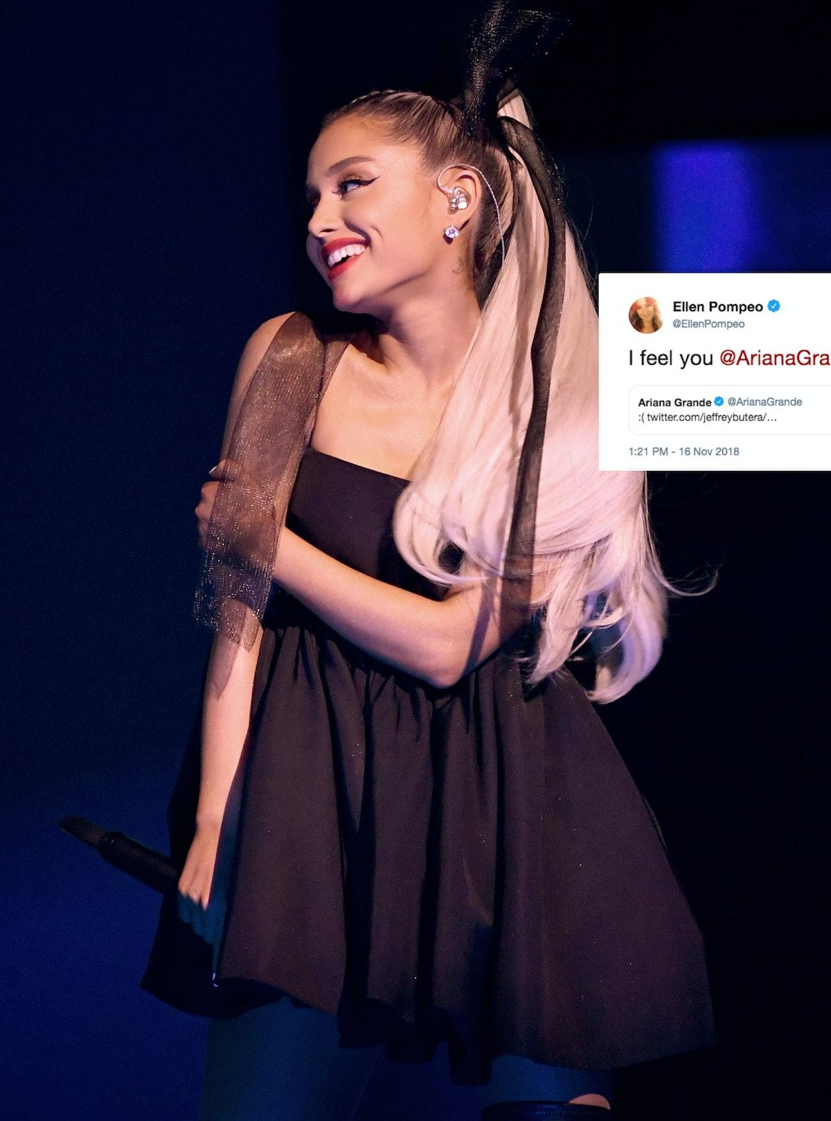 """Ariana Grande's """"Thank U, Next"""" Meme About 'Grey's Anatomy' Got The Best Response From Ellen Pompeo Herself"""