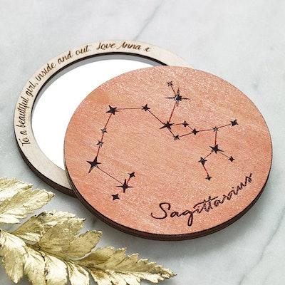 Personalised Horoscope Compact Pocket Mirror