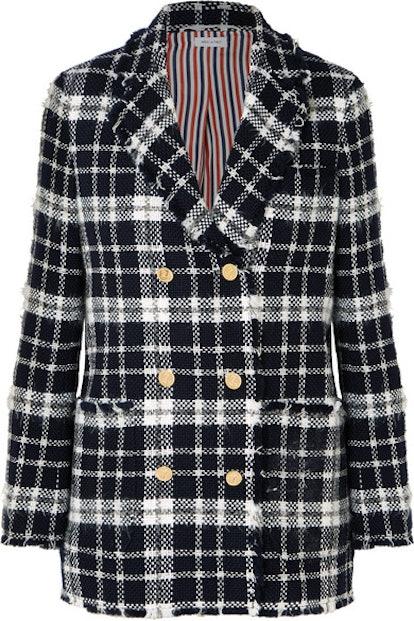 Tweed Plaid Blazer