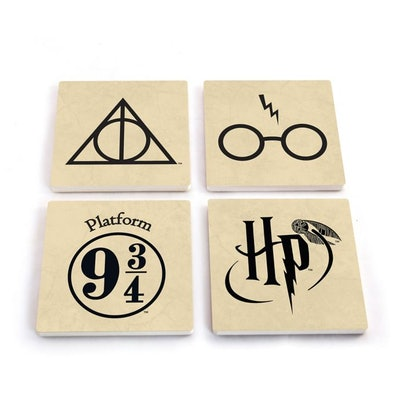 Harry Potter Stone Coasters (Set of 4)
