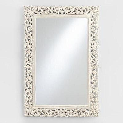 Segovia Whitewashed Mirror