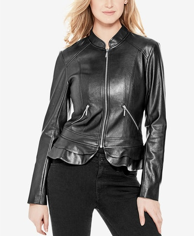 GUESS Kate Faux Leather Jacket