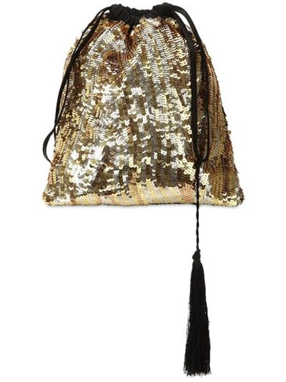Gold Sequined Pouch