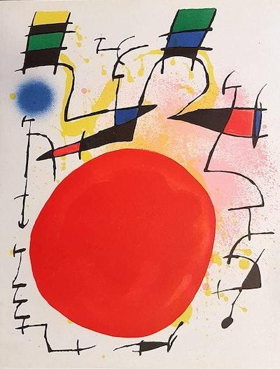 Joan Miró Lithographe I - Plate III, 1972