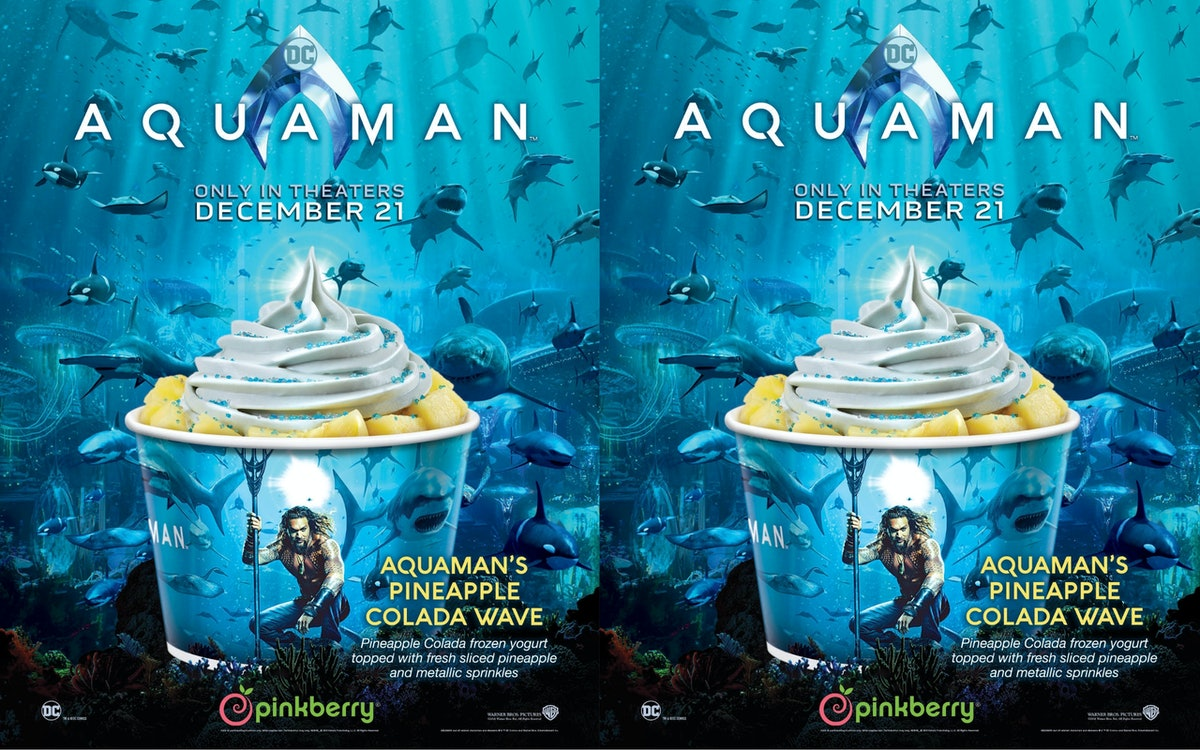 Pinkberry Launched An Aquaman Frozen Yogurt & The Flavor Is Fitting For The Hero