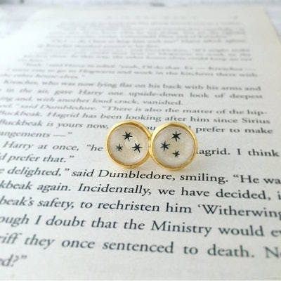 Harry Potter Recycled Stars Book Earrings