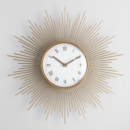 Round Mid Century Spoke Wall Clock