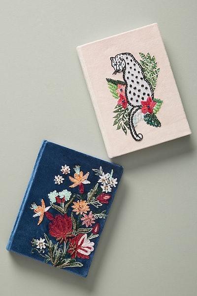 Embroidered Velvet Journal
