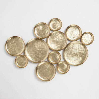 Gold Hammered Discs Wall Art