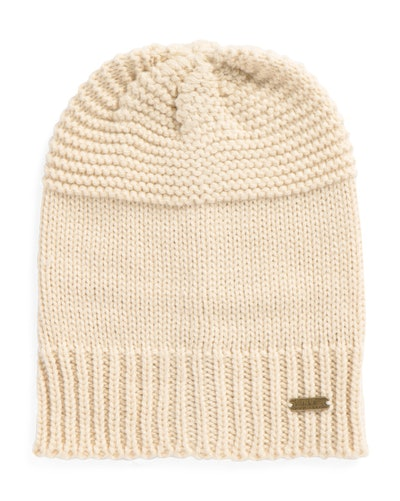 Nicole Miller Beanie With Ribbed Bottom