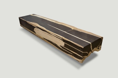 Super Smooth Petrified Wood Log Bench