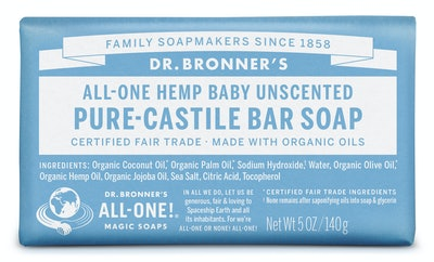 Dr. Bronner's Baby Unscented Bar Soap