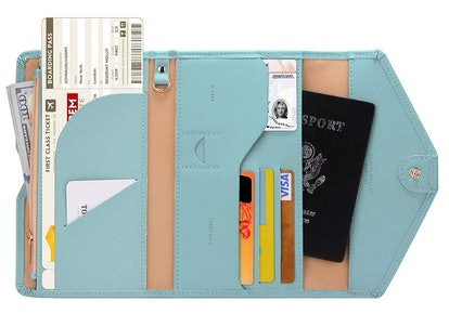 Zoppen Multi-Purpose RFID-Blocking Travel Wallet