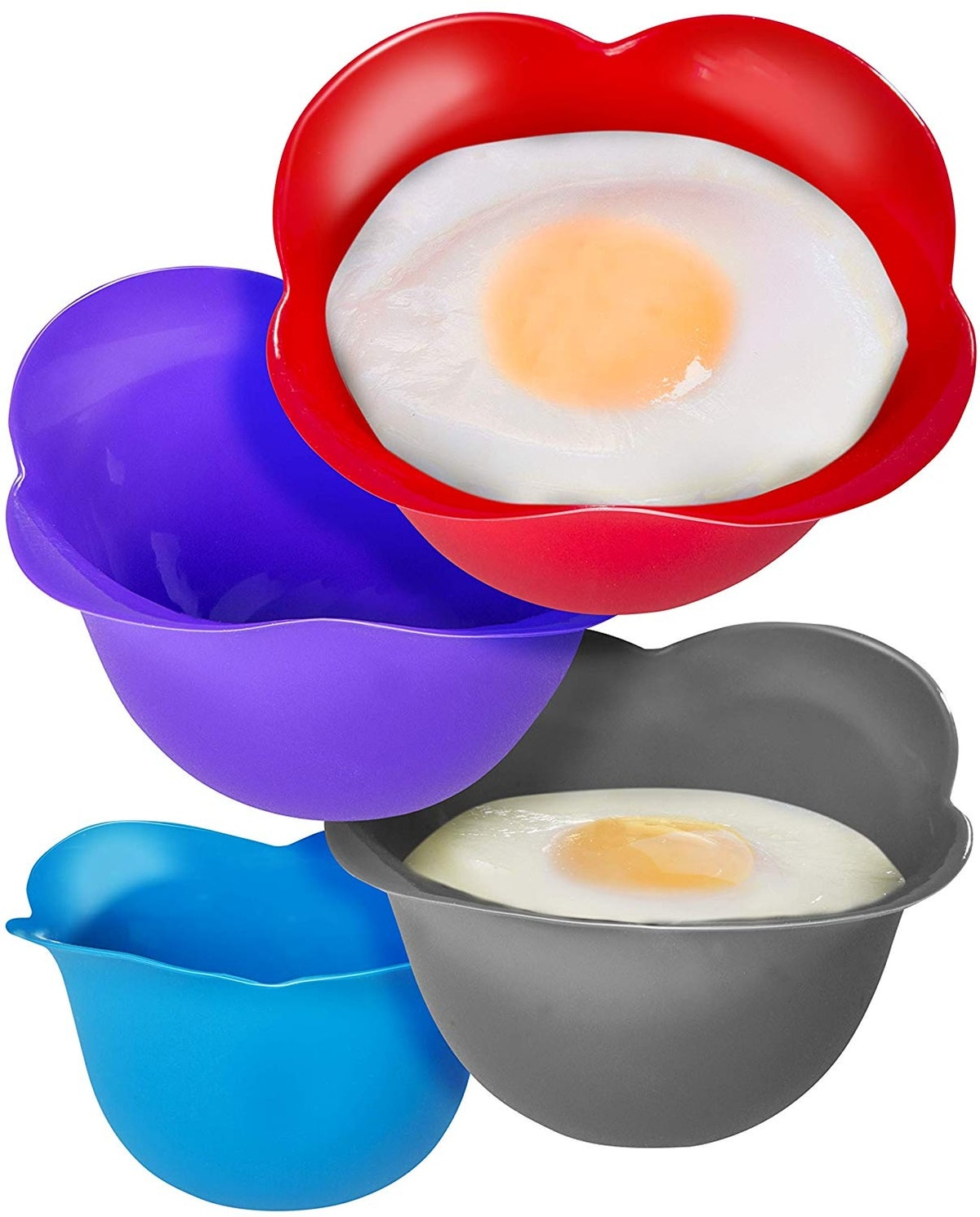 KITZINI Silicone Egg Poaching Cups (4 Pack)