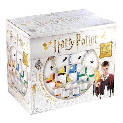 Hogwarts Houses 16-Piece Ceramic Dinnerware Set