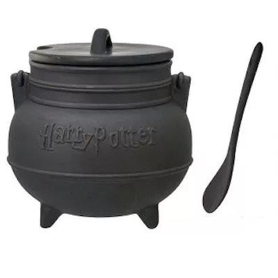 Ceramic Cauldron Soup Mug with Spoon