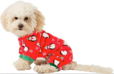 Frisco Holiday Penguins Dog & Cat Cozy Fleece PJs By Frisco