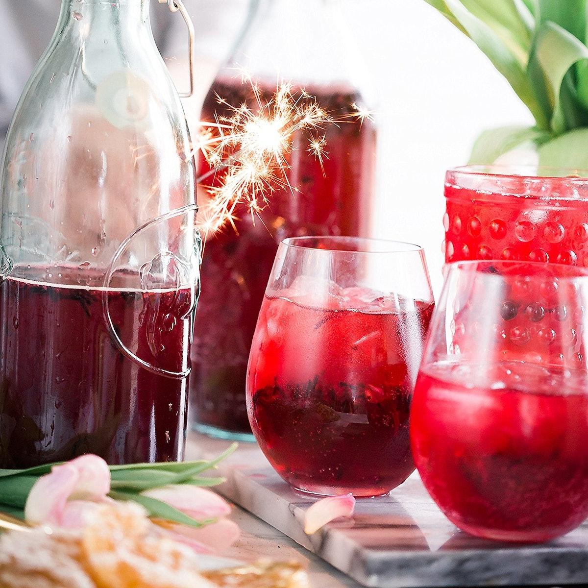 Poolside Creations Unbreakable Stemless Plastic Wine Glasses