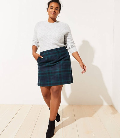 LOFT Plus Plaid Skirt