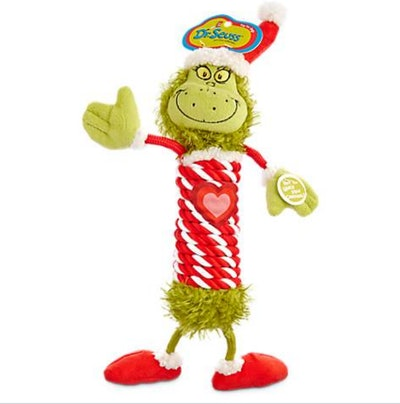 Dr. Seuss How the Grinch Stole Christmas Grinch with Rope Body Dog Toy, Large