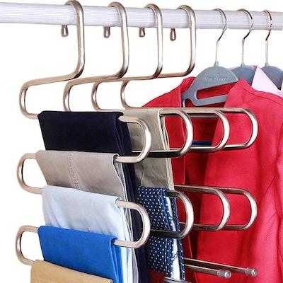 DOIOWN Steel Pants Hangers (Set Of 3)