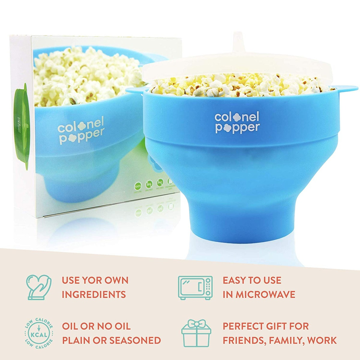 Colonel Popper Microwave Popcorn Bowl