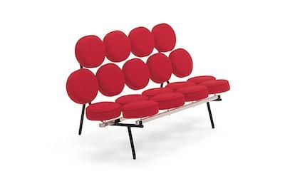 Nelson Marshmallow Sofa, Fabric, Cherry