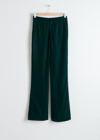 High Waisted Velvet Pants