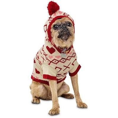 Knit Hoodie Dog Sweater