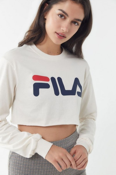 FILA x UO Cropped Long Sleeve Tee