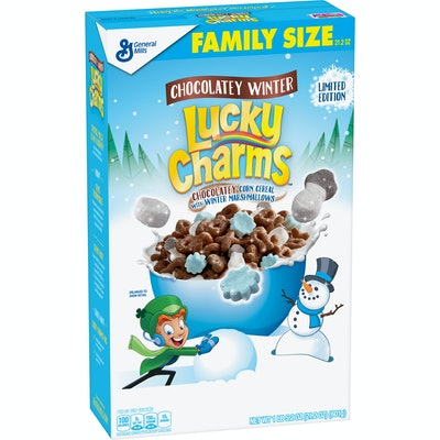 Lucky Charms Chocolatey Winter Cereal