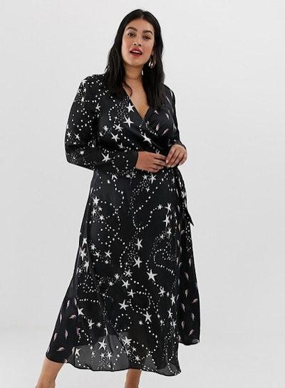 ASOS Curve Wrap Maxi Dress