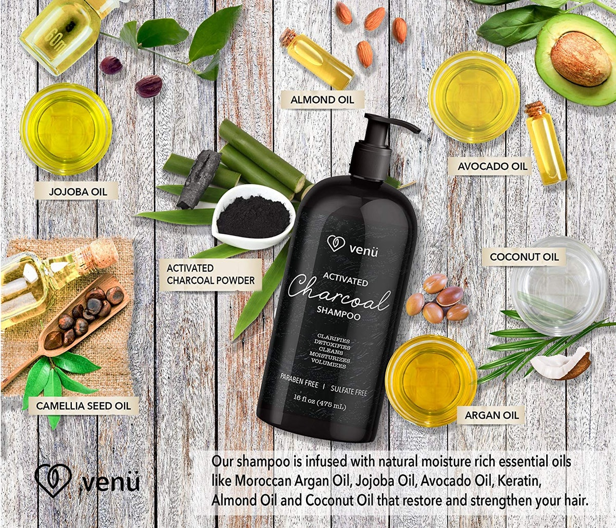 Venu Activated Charcoal Shampoo