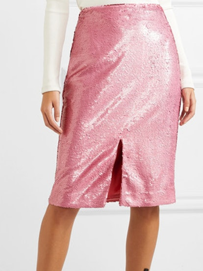 Sonora Sequined Satin Skirt