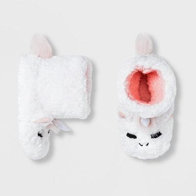 Baby Girls' Unicorn Bootie Slippers