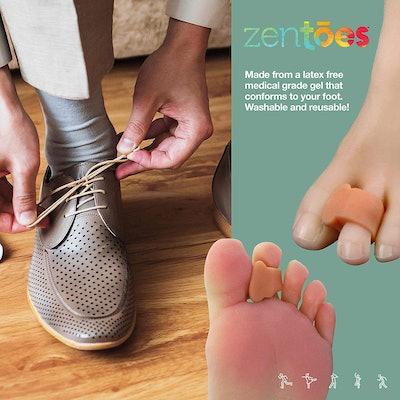 ZenToes Pack Of 4 Toe Separators And Spreaders