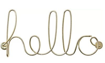 Wired Words Hello Wall Decor