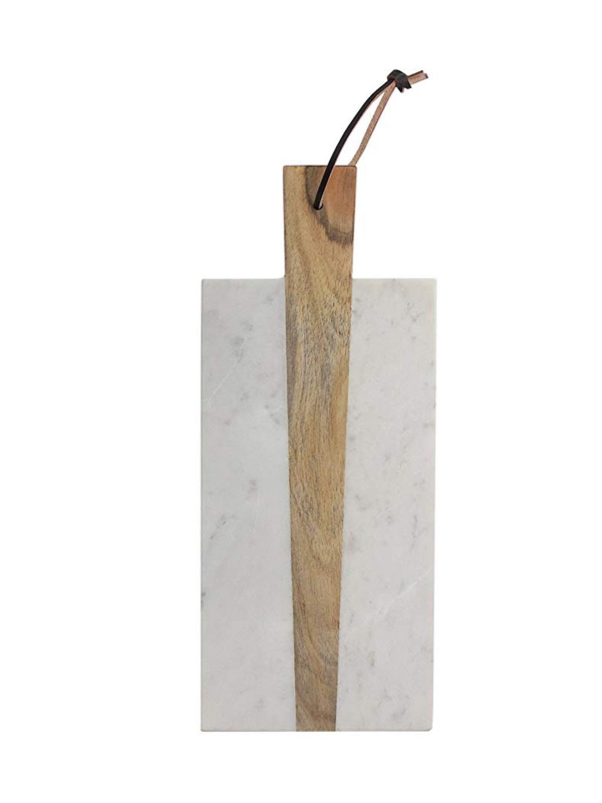 Marble and Wood Rectangular Cutting Board