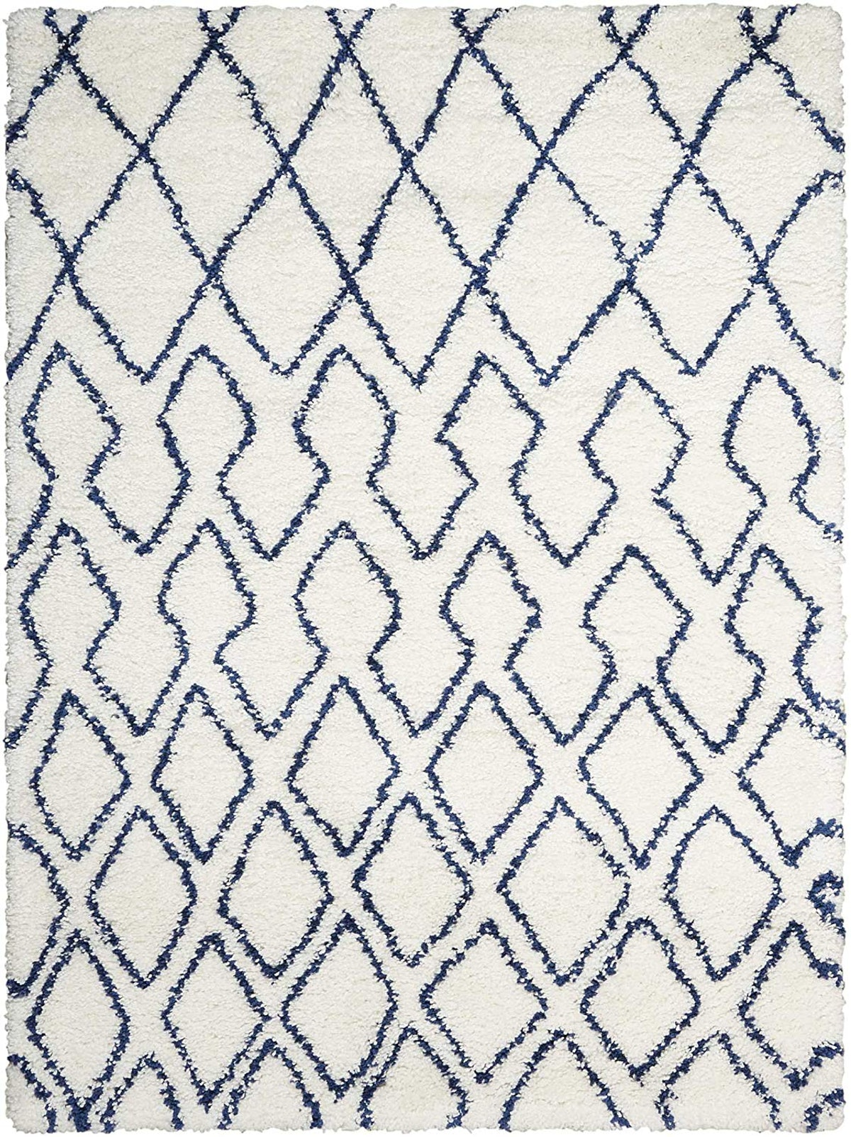 Calvin Klein Riad Ivory/Navy Shag Area Rug