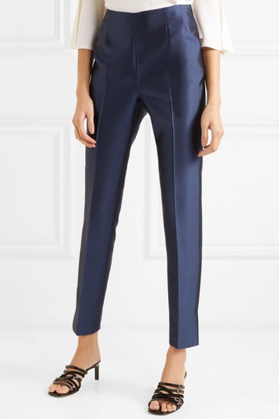 Gabriela Hearst Masto Silk And Wool-Blend Tapered Pants