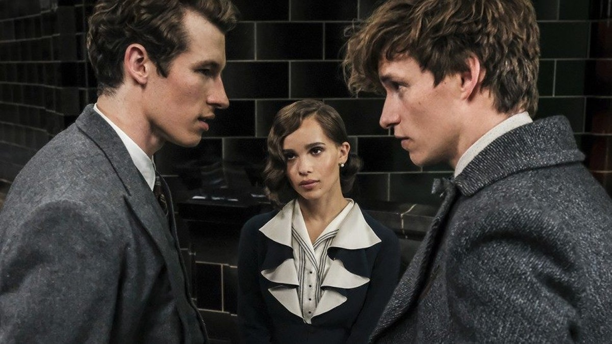 Leta Lestrange with Newt and Theseus Scamander in 'Fantastic Beasts: The Crimes of Grindelwald'