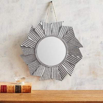 Mini Galvanized Mirror