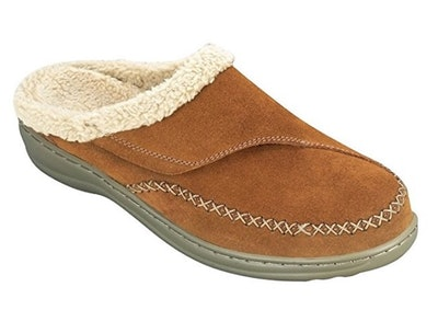 Orthofeet Leather Women's Arch Support Slippers
